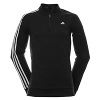 Adidas 3 Stripe Quarter Zip Jacket Black 2016