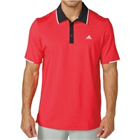 Adidas Climacool Crestable Vented Golf Polo Ray Red/Black 2016