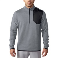 Adidas Club Performance Half Zip Sweater Mid Grey Heather 2016