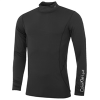 Calvin Klein Golf Mock Neck Baselayer Black 2016
