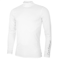Calvin Klein Golf Mock Neck Baselayer White 2016