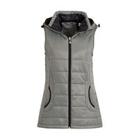 Calvin Klein Golf Ladies Hooded Padded Gilet with Faux Fur Trim Speckled Grey 2016