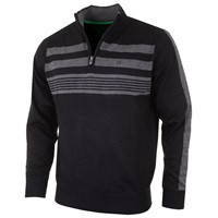 Calvin Klein Golf Stripeblock Lined Sweater Black 2016