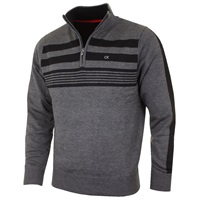 Calvin Klein Golf Stripeblock Lined Sweater Charcoal 2016