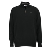 Calvin Klein Golf Zip Neck Superwool Sweater Black 2016