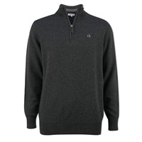 Calvin Klein Golf Zip Neck Superwool Sweater Charcoal 2016