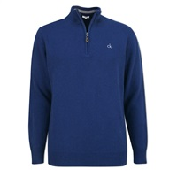 Calvin Klein Golf Zip Neck Superwool Sweater Navy 2016