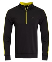Calvin Klein Golf 1/2 Zip Tribeca Top Black/Lime 2016
