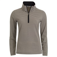 Green Lamb Ladies Lulu Half Zip Mini Stripe Top Black/Gold 2016