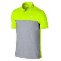 Nike Golf Icon Color Block Polo Volt/Wolf Grey/White 2016