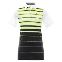 Nike Golf Mobility Fade Stripe Polo Volt/White/Grey 2016