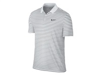 Nike Golf Victory Mini Stripe Polo White/Wolf Grey/Black 2016