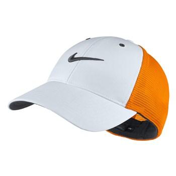 Nike Golf Legacy91 Tour Mesh Golf Cap Orange White - Click to view a larger 757b194296ba