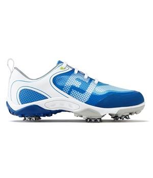 FootJoy Boys HyperFlex Golf Shoes Medium Fit White/Blue 2017