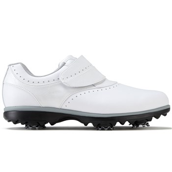 FootJoy Ladies eMerge Golf Shoes Wide Fit White/White Velcro 2017  - Click to view a larger image
