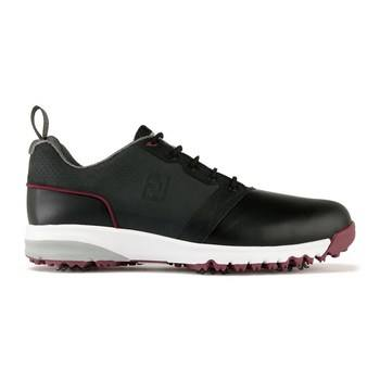 FootJoy ContourFit Golf Shoes Wide Fit Black/Crimson   - Click to view a larger image