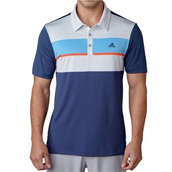 promo code 57a7f 14ee5 Climacool Chest Block Polo Shirt Dark Slate/Clear Grey/Joy Blue/Energy 2017  - Large