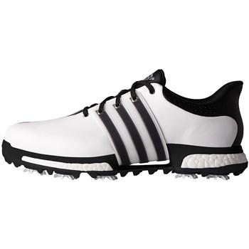 quality design a17cb 4fba5 Adidas Tour 360 Boost Wide Fit Shoes Footwear WhiteCore BlackCore Black -