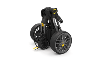 Powakaddy Compact C2 18 Hole Lithium Electric Trolley Gun Metal + Honeycomb Trim  - Click to view a larger image