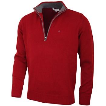 Calvin Klein Golf Chunky Cotton Sweater Burgundy 2018