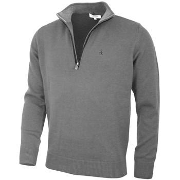 Calvin Klein Golf Chunky Cotton Sweater Grey Marl 2018