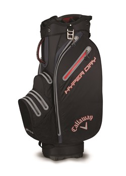 Callaway Hyper Dry Cart Bag 2018 Black/Titanium/Red  - Click to view a larger image