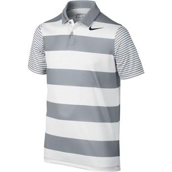Nike Golf Boys Bold Stripe Golf Polo Grey Black 2017 Halpennygolf Com