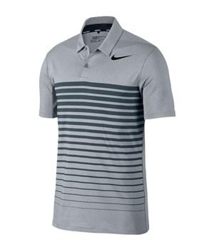 Nike Golf Dry Striped Golf Polo Shirt Grey/Navy/Black 2017 | HalpennyGolf. com