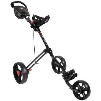 Masters 5 Series 3 Wheel Push Trolley Black
