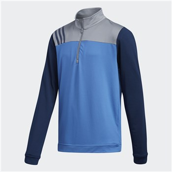 Adidas Junior Layering 1/2 Zip Layering Sweatshirt Trace Royal 2018