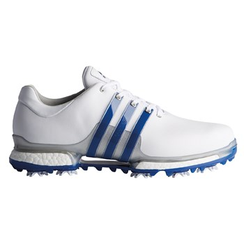 new product f4b0f 77d1a Adidas Tour360 2.0 Golf Shoe Ftwr White Collegiate Royal Silver Met