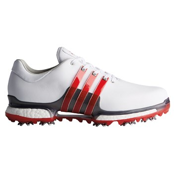 Adidas Tour360 2.0 Golf Shoe Ftwr White/Scarlet/Dark Silver Metallic 2018