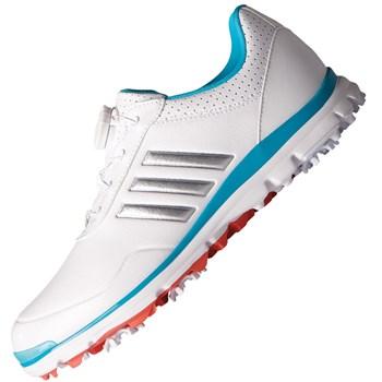 Adidas Ladies Adistar Lite BOA Shoes White/Silver Metallic/Energy Blue 2018