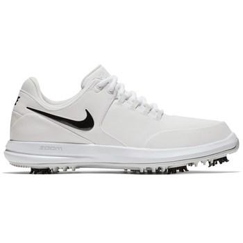big sale df3de 675df Nike Golf Air Zoom Accurate Shoes WhiteBlackMetallic Silver