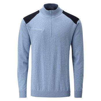 Ping Troy 1/2 Zip Sweater Blue Lagoon/Navy 2018  - Click to view a larger image