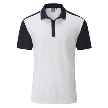 c05d22dfaf47 Ping Quinn Golf Polo Shirt Imperial White Navy 2018