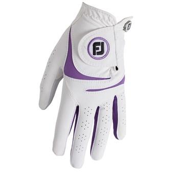 FootJoy Ladies WeatherSof Glove Left Hand White/Purple 2018