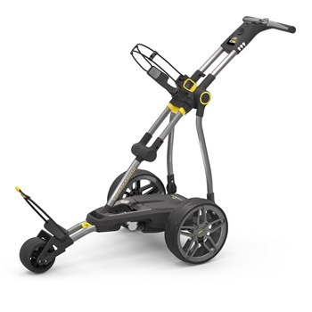 Powakaddy Compact C2i 18 Hole Lithium Electric Trolley Gun Metal + Honeycomb Trim  - Click to view a larger image