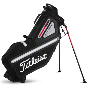 Titleist Players 4 StaDry Stand Golf Bag Black/Steel/Red 2018