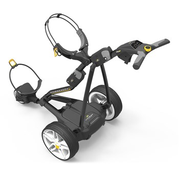 Powakaddy FW3s Electric Golf Trolley 18 Hole Lithium Battery Black  - Click to view a larger image