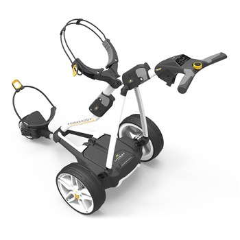 Powakaddy FW3s Electric Golf Trolley 18 Hole Lithium Battery White  - Click to view a larger image