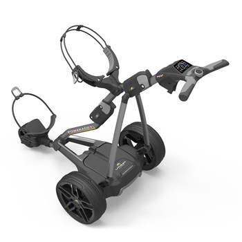 Powakaddy FW5s Electric Golf Trolley 18 Hole Lithium Battery Gun Metal  - Click to view a larger image