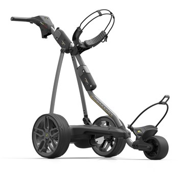 Powakaddy FW7s GPS Electric Golf Trolley 18 Hole Lithium Battery Gun Metal  - Click to view a larger image