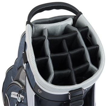 TaylorMade Classic Cart Bag Black/Navy Heather/Silver   - Click to view a larger image