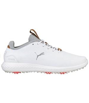 Puma Junior Tour Lux Shoes White/White 2018