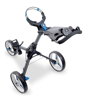 Motocaddy CUBE CONNECT Push Trolley Graphite/Blue