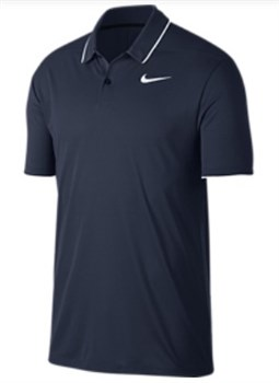 a6bb8819a78b Nike Golf Dry Polo Essential Solid Polo Blue White White 2018 - Click to