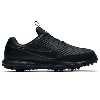 cd760b049502 Nike Golf Explorer 2 S Golf Shoes Black Black Metallic Dark Grey ...