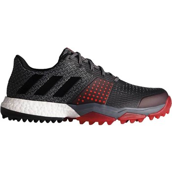 Adidas AdiPower Sport Boost 3 Golf Shoe Onix/Core Black/Scarlet   - Click to view a larger image