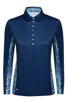 Daily Sports Ladies Lena Long Sleeve Polo Shirt Steel Blue 2018
